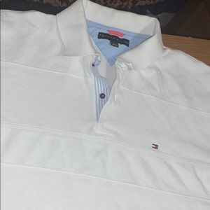Collared White Tommy Shirt, XL